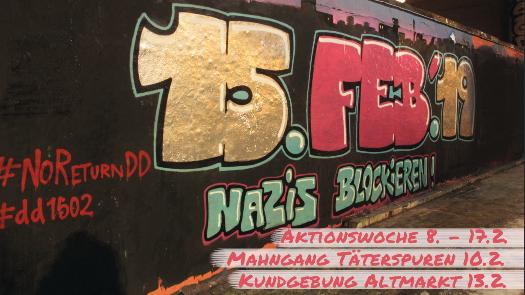 Dresden Graffiti 15. Feb. 2019 Aktionswoche