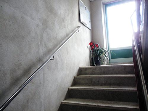 Neues Treppenhaus Geländer
