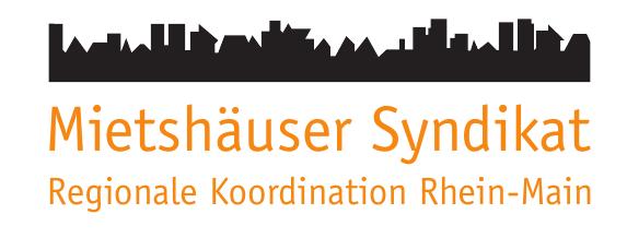 Mietshäuser Syndikat, Regionale Koordination Rhein-Main